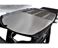 In acciaio inox piastra/Plancha, adatto per tutti i barbecue dal della Weber Q300 e Q3000 Serie