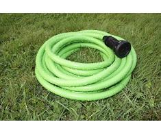 Magic Soft 15 MT-Tubo Estensibile Giardino Fino A 3 Volte La Sua Lunghezza Iniziale Tubo Elasticizzato Per giardino leggero Estensibile Flessibile Senza Nodi E Grovigli Tubo Irrigazione