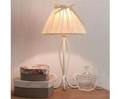 ZXC matrimonio comodino camera da letto minimalista di modo creativo arredate in modo accogliente piccola lampada da tavolo, da giardino in ferro battuto luce moda ( colore : Bianca )