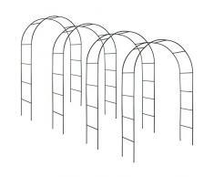 TecTake Arco giardino in ferro per rampicanti Arco per rosa decorationi | - disponibile in diverse quantità- (4 Pezzi | no. 402661)