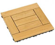 Mitef antisettico anti-slittamento Easy Instation Wood Deck piastrelle per patio giardino terrazza bagno doccia, multi-pattern e multicolore,1 confezione, Yellow, H Stripe