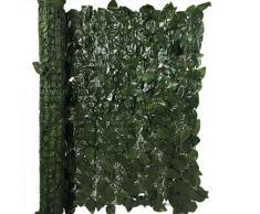 Siepe artificiale Laurel Verde scuro Recinzione Balcone Giardino 100x300 cm EV