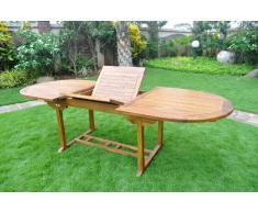 Tavolo da giardino in teak, per 10 persone - Tavolo ovale