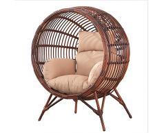 SQINAA Uovo di appendere amaca sedia cuscini senza stand,Altalena nido spessore cuscino di seduta sedia indietro con il cuscino d'attaccatura-L