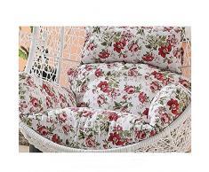 SQINAA Uovo di appendere amaca sedia cuscini senza stand,Altalena nido spessore cuscino di seduta sedia indietro con il cuscino d'attaccatura-D
