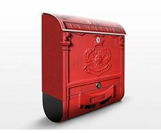 Cassetta postale Letterbox In Italy | 39x46x13cm Cassetta per lettere Cassetta postale di design con Supporto Giornale Cassetta postale con giornale rotolo Post Box, Dimensione: 46cm x 39cm