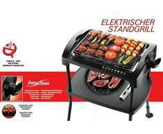 Grill elettrico Cool-Touch, 2000 W, barbecue elettrico da tavolo e balcone