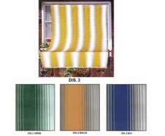 Tenda da sole tessuto resistente per balcone con anelli lavabile frange pizzo - Giallo - 140x300 cm