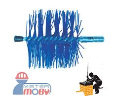 Mistermoby Scovolo Tondo in Nylon per Pulizia Tubi di Stufe Stufa a Pellet Diametro 120 Millimetri