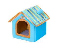 LvRao Pet Cuccia a Casa Letto Pieghevole Cuccia con Cuscino per Cani Gatti Morbido Caldo Divano Lettino Cestino per Cane (Blu, M)
