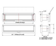 HomesSecure buca per lettere a pannello per porta in UPVC, da 30,5 cm, colore: bianco, articolo HS3753