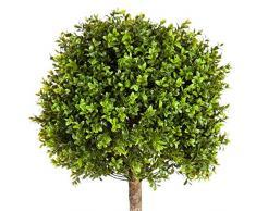 artplants.de Bosso Artificiale Tom, 1190 Foglie, 105cm, Ø 40cm - Cespuglio Decorativo/Albero di bosso