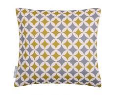 """Design Impermeabile Morocchino Giardino Esterno Cuscino - Grigio & Mostarda Bahia, """"Marrakech"""" Collezione - Progettato Stampato & fatti a mano nel Regno Unito - Set of 2, 50 x 50 cm Cushions"""