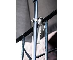 greemotion Supporto ombrellone, morsetto da balcone per ombrelloni in acciaio zincato