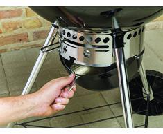 Weber - Original Kettle, Barbecue a carbonella, forma tondeggiante, Ø 47 cm, colore: Nero