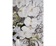 Bisque artificiale con rami Composizione orchidea vaso di fiori