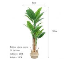 BOWCORE Falso Pianta Artificiale Tropicale Banano 150cm Quasi Naturale Banano Artificiale con Carrello for la casa Garden Office Store Decoration Grande (Color : A)