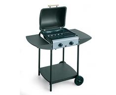 BST BARBECUE CON PIETRA LAVICA A GAS -- EUROLAVA SINGLE -- MULTIGAS GAS BOMBOLA / METANO Dim. L cm 47 * P cm 43 * H cm 83 art.281EU