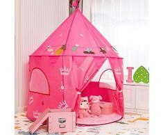 knowledgi Tenda da Gioco, Portatile Castello Principessa Tenda Casetta Tenda Principessa Casa per Bambini