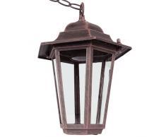 Jago LAMPADA PARETE CLASSE A++ FINO E LAMPADA GIARDINO LAMPIONE ESTERNO (ruggine)