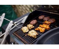 Kuhn Rikon-Forchettone da barbecue, in acciaio INOX, colore: argento