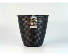 Portavaso porta vaso Colore Antracite Mod. Paglia Diam 29 cm h 27 Cm