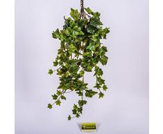 Edera artificiale su stelo, 225 foglie, verde, 70 cm - Pianta rampicante / Edera decorativa - artplants