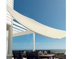 Harbour Housewares Tendone Parasole a Vela - Resistente all'Acqua - per Giardino/Esterni - Protezione UV 98% - Rettangolare - Panna - 2,5 x 3 m