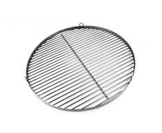 Griglia in acciaio inox rotondo F. barbecue basculante   Made in Germany   con incisione a scelta