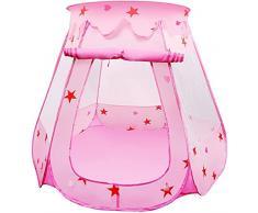 LEADSTAR Tenda da Gioco per Bambini Principessa Pop Up Pieghevole Piscina di Palline (Rosa)