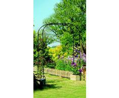 Gardman, Pergola ad arco per rose, extra-large, 1,9 x 1,5 m, colore: Nero