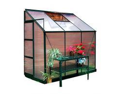 Serra in alluminio 125x252xh213cm per piante fiori ortaggi giardino G1002F 4X8
