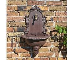 CLGarden Fontana da Giardino a Muro WB1 con lavandino nel Design nostalgico per connessione al Tubo d'irrigazione o Direttamente al acquedotto