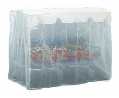 Siena Garden 542288 Telo protettivo per dondolo, polietilene, 240 x 150 x 135 cm, pre dondolo a 2 posti, colore: Trasparente