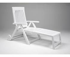 NARDI, Sdraio con rotelle Achille, in plastica, Bianco (Weiß)