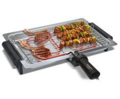 Johnson GRIGLIA Grill Da tavolo Elettrico 1740W Nero, Acciaio inossidabile barbecue e bistecchiera