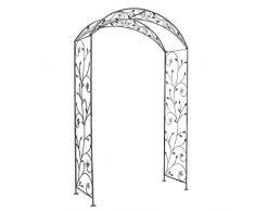 Milani Home s.r.l.s. Arco in Ferro per Interno Esterno Giardino Ristorante Bar Albergo Colore Bianco ossidato