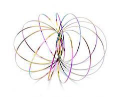 Feelairy Magia Flusso Anello di Arcobaleno - 3D Braccio Spinner Giocattolo Decompressione Anelli a Spirale in Acciaio Inossidabile Gioco a Molla Cinetica per Tutte Le età - Bambini e Adulti