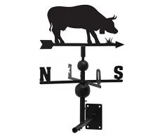 Segnavento, motivo: mucca, in ferro forgiato, 97 x 47 x 47 cm