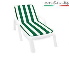 Cuscino copri sedia UNIVERSALE morbido girasoli seduta poltrona sdraio tessuto cotone per piscina mare giardino mod.IBIZA BIANCO 34A