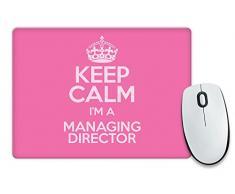 """Colore: rosa, motivo: """"Keep Calm I'm a direttore colore 3368-Cassetta per posta Tappetino per Mouse"""