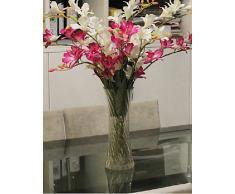 kiuytghnb floreale plastica floreale soggiorno poliestere Orchidee Fiori Artificiali Quilt Purple