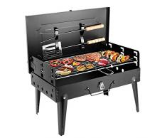 Sunjas Griglia Pratica Portatile e Pieghevole Campeggio Mini Fornello Barbecue