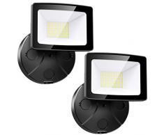 Onforu 2 Pezzi 30W Faretto LED da Esterno, 3000LM Super Luminoso Faro LED, IP65 Impermeabile Fari da Esterno, 5000K Bianca Fredda Fari di Sicurezza per Ingresso, Corridoio, Garage, Patio, Cortile