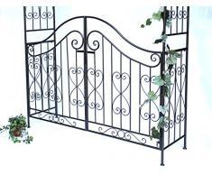 Arco di rose con porta Pforte 131872 in metallo Cancello da giardino 282x160cm Arrampicata-robusta
