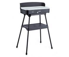 oneConcept Porterhouse griglia elettrica barbecue Grill Elettrico (51 x 83,5 x 40 cm, 2200 Watt, Calore Regolabile, Facile da Montare) Nero