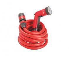 FITT YOYO Tubo Acqua da Giardino Estensibile per Irrigazione con Pistola Multigetto, Rosso, 20m