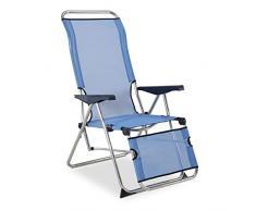 Solenny 50001072735212 - Sdraio Relax a 5 posti, con schienale anatomico, colore: blu