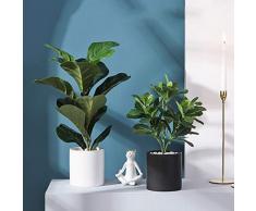 Yiqing Garden AA- Arbusto Finto Artificiale, Decorazione Domestica dell'interno Simulazione Desktop Paesaggio Ornamenti in Vaso di Bonsai in Vaso 0626 (Size : A)