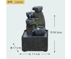 il salotto di decorazione feng shui palla fontana waterscape artigianali scrivania ornamenti zhaocai affari doni,16008 (11 * 11 * 18.5cm)